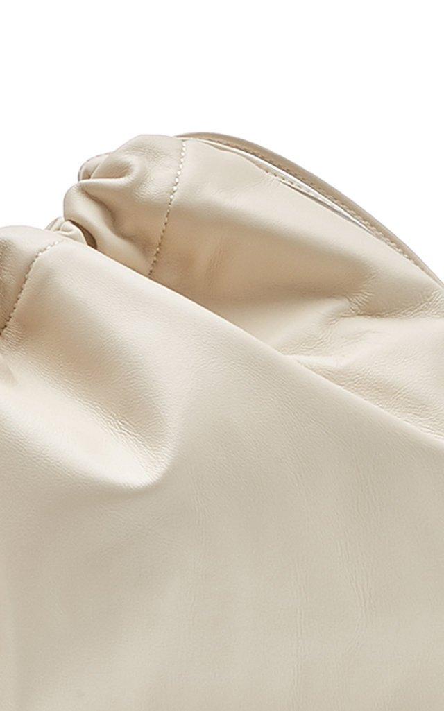 Maxi Drawstring Leather Clutch
