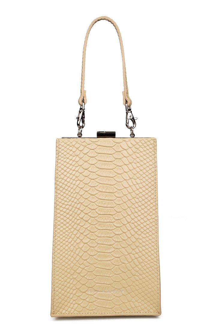 Envelope Mini Snake-Effect Leather Bag
