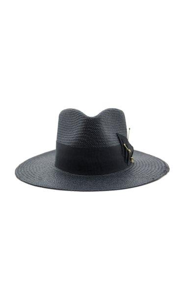 Midnight Embellished Straw Hat