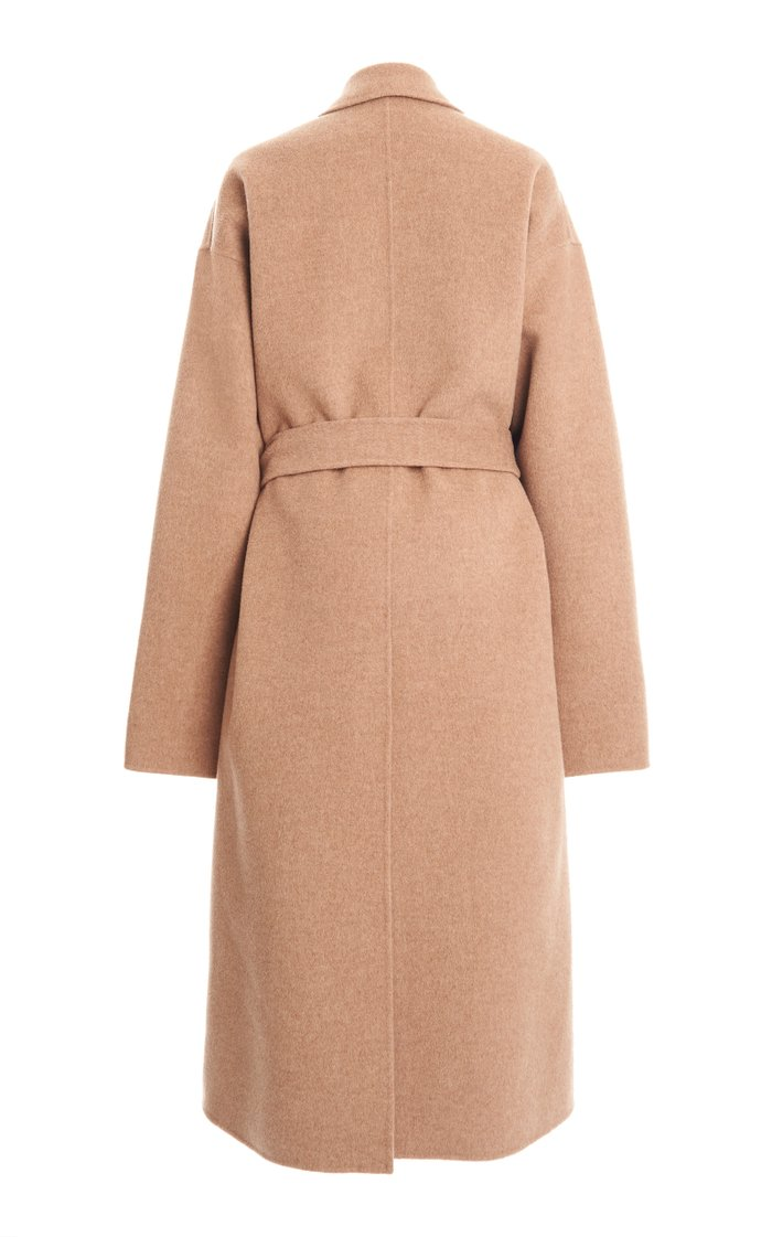 Owanne Double Oversized Belted Wool Coat