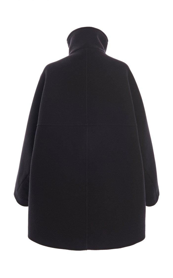 Oralis Funnelneck Wool-Blend Coat