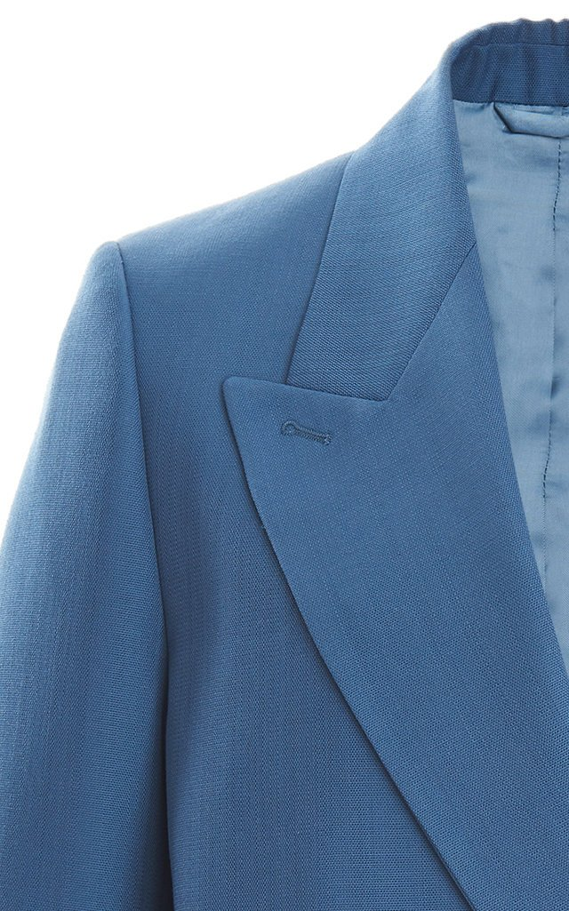 Janny Double-Breasted Twill Blazer