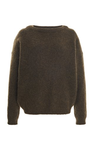 Dramatic Stretch-Wool Knitted Top