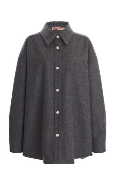Shanelle Oversized Wool-Flannel Shirt
