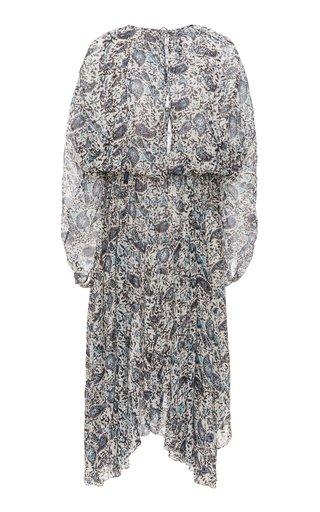 Laureli Printed Chiffon Midi Dress