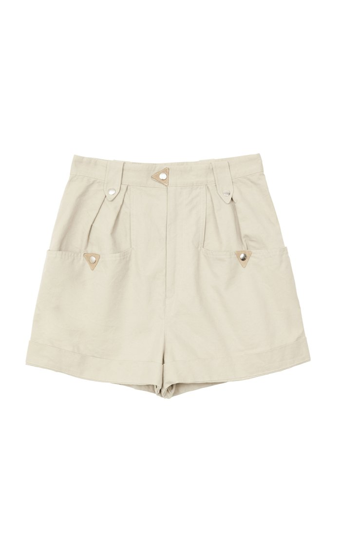 Palino Pleated Cotton-Gabardine Shorts