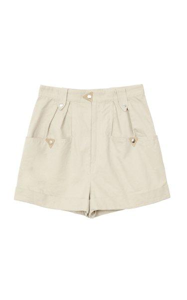 Palino Pleated Cotton-Gabardine Shorts