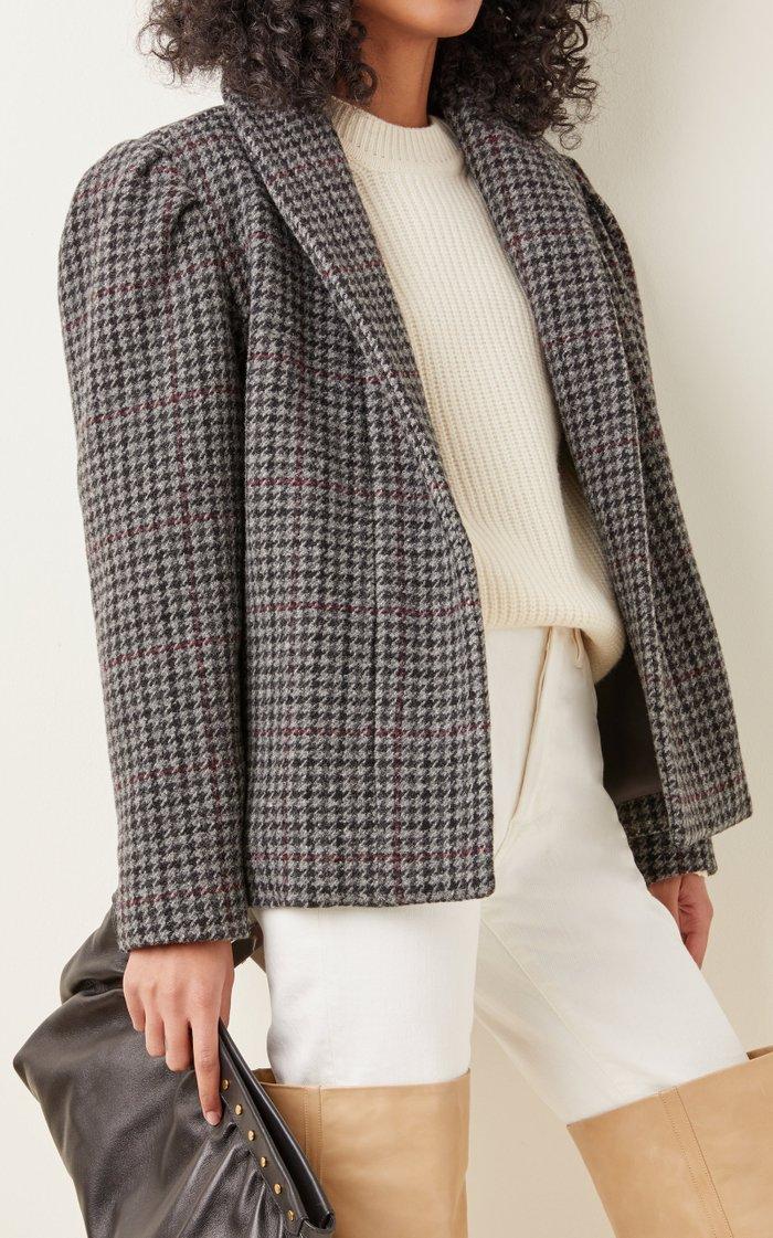 Kabadi Oversized Checked Wool Jacket