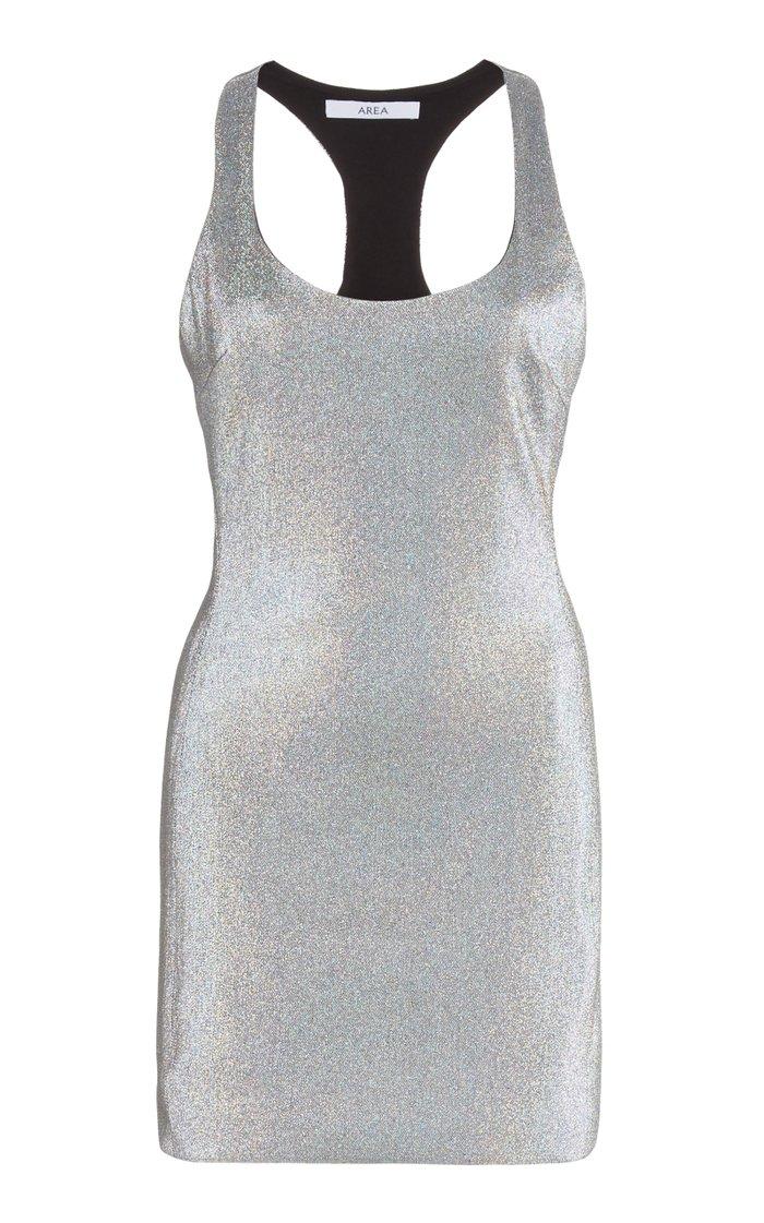 Metallic Racerback Cady Mini Dress