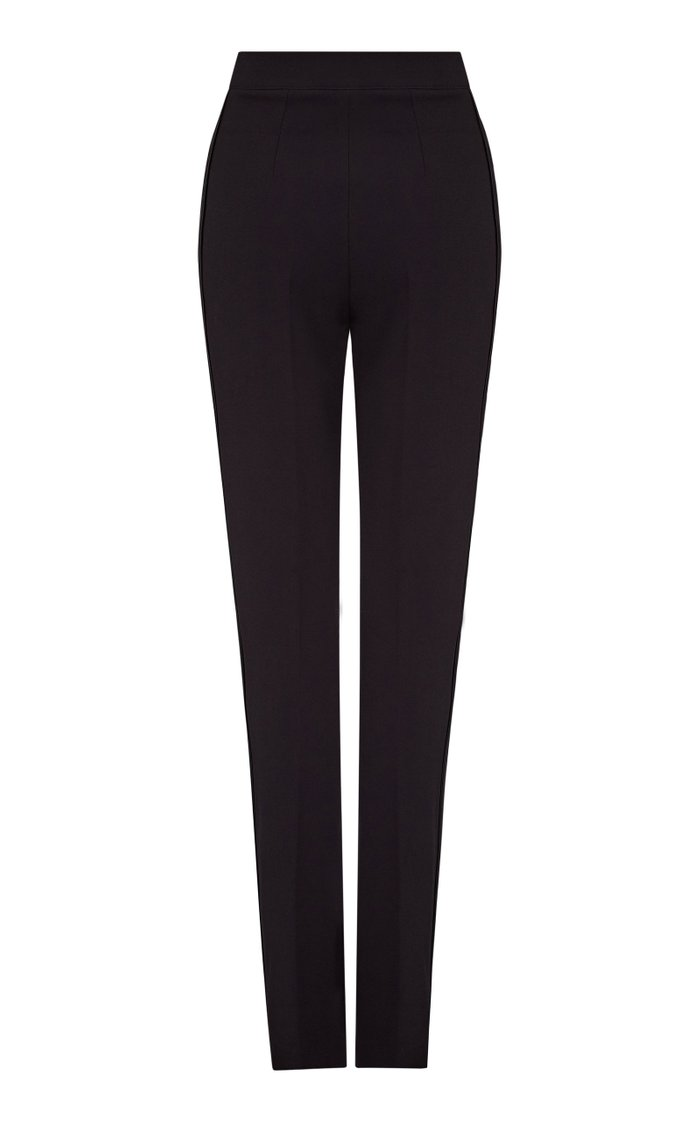 Goldie Heavy Crepe Straight-Leg Trousers