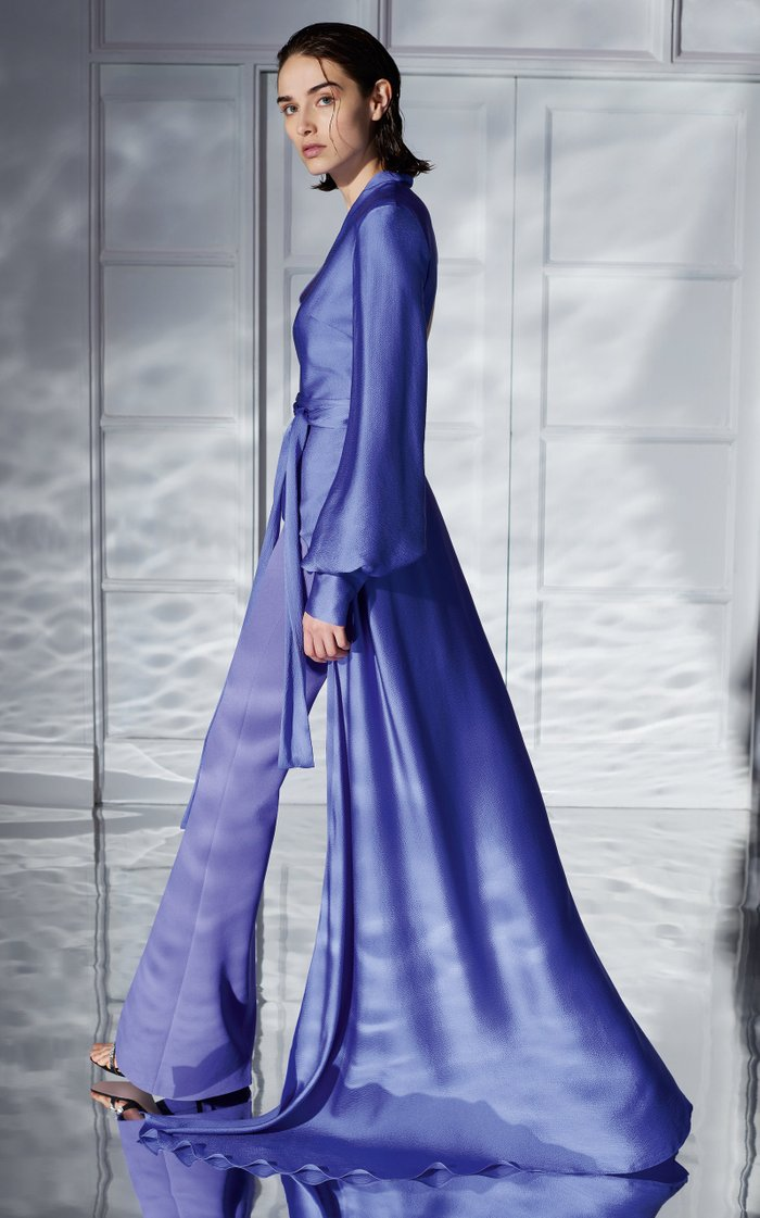Cedella Hammered Silk Long Top