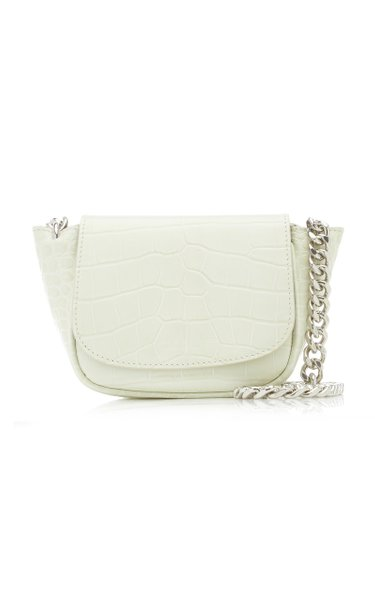 Mini Bend Croc-Effect Leather Crossbody Bag