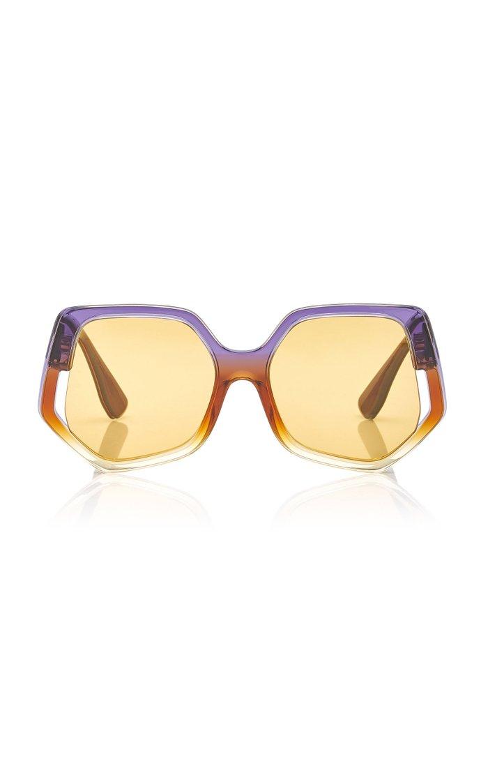 Oversized Hexagonal Acetate Sunglasses
