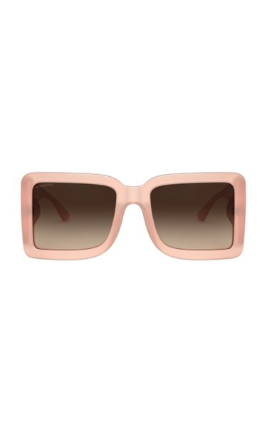 Logo Oversized Square-Frame Acetate Sunglasses