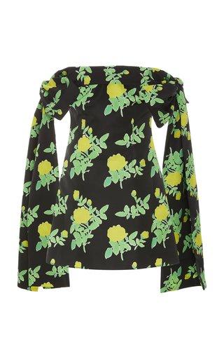 Timothy Off-The-Shoulder Floral Taffeta Mini Dress