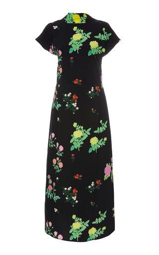 Valentine Printed Crepe Maxi Dress