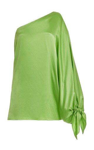 Linda One-Shoulder Silk Mini Dress
