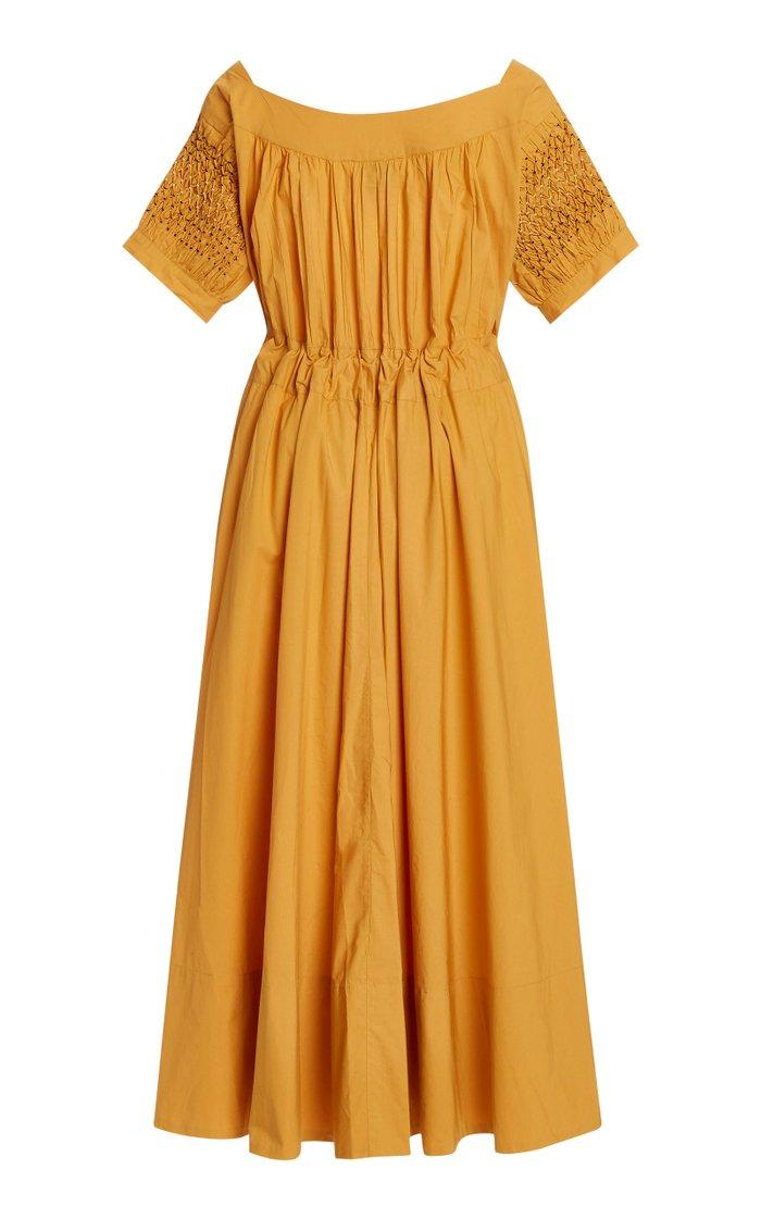 Vera Belted Cotton Midi Dress