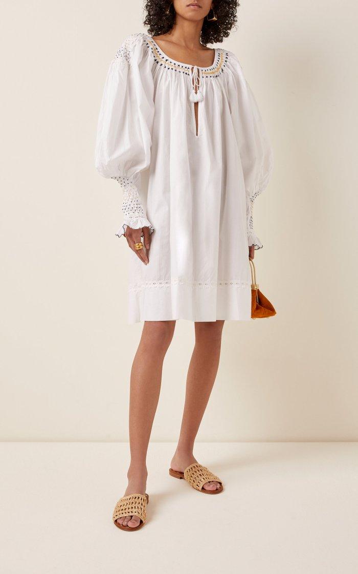 Valeska Embroidered Cotton Mini Dress