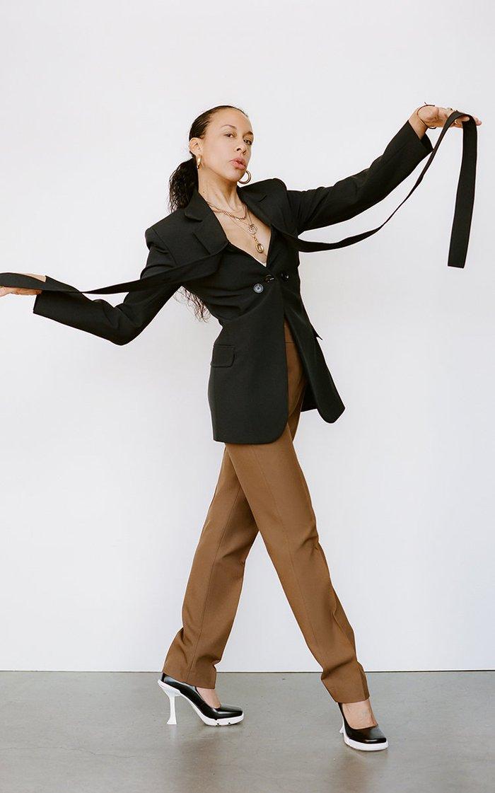 Dub Crepe Slim-Leg Pants