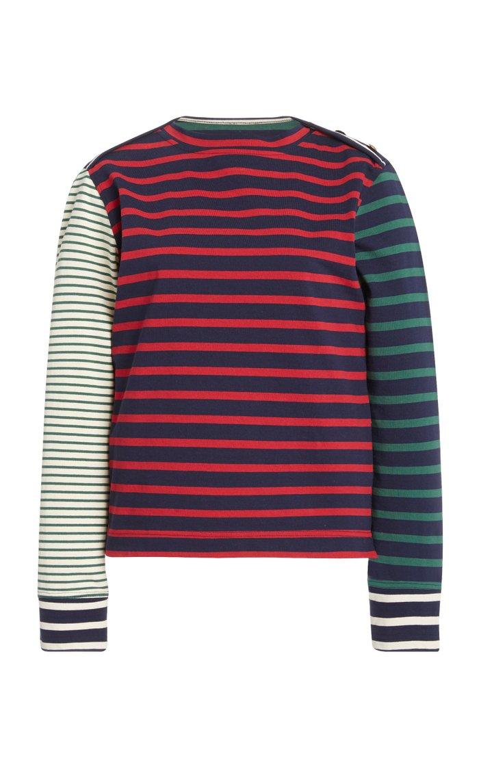 Carroll Striped Cotton-Jersey T-Shirt
