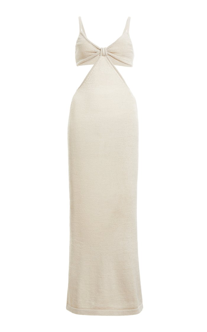 Serita Ribbed Cotton-Blend Maxi Dress