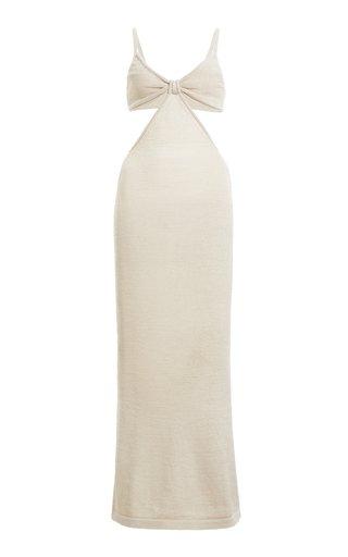 Serita Ribbed Cotton-Blend Maxi Dress