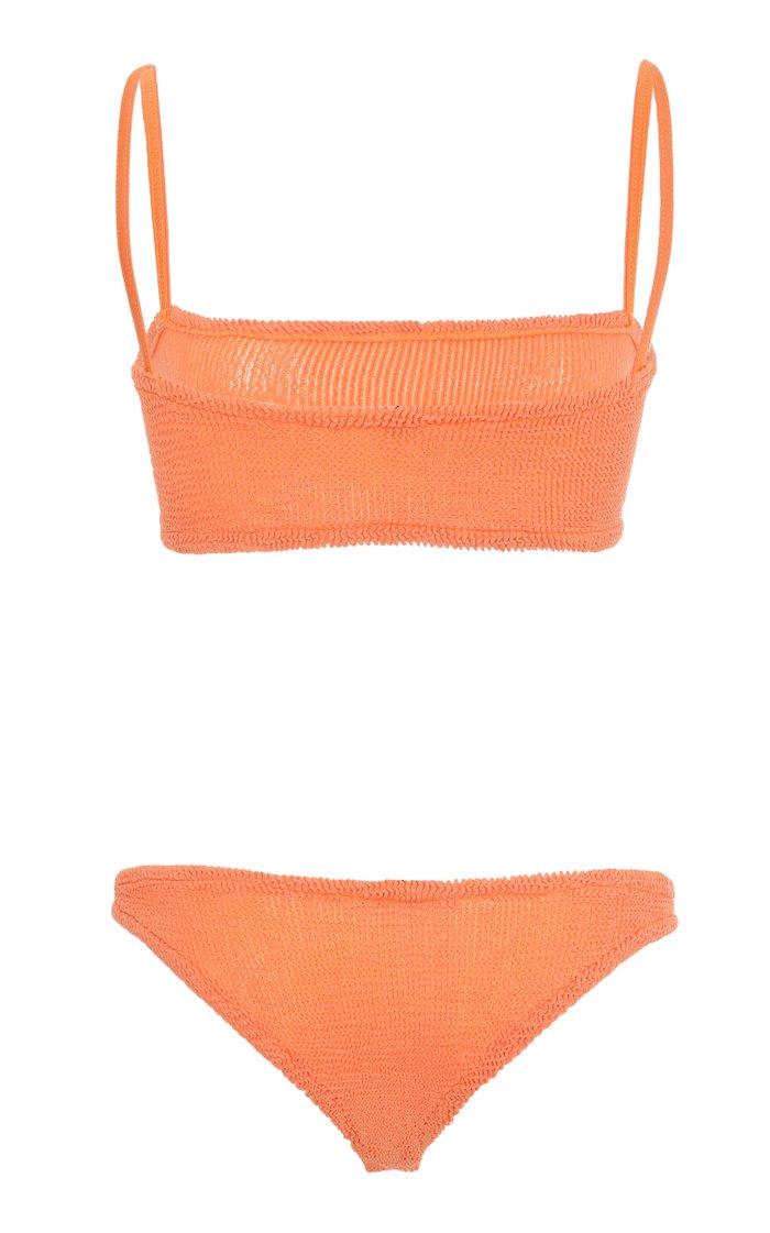 Gigi Square-Neck Textured Bikini