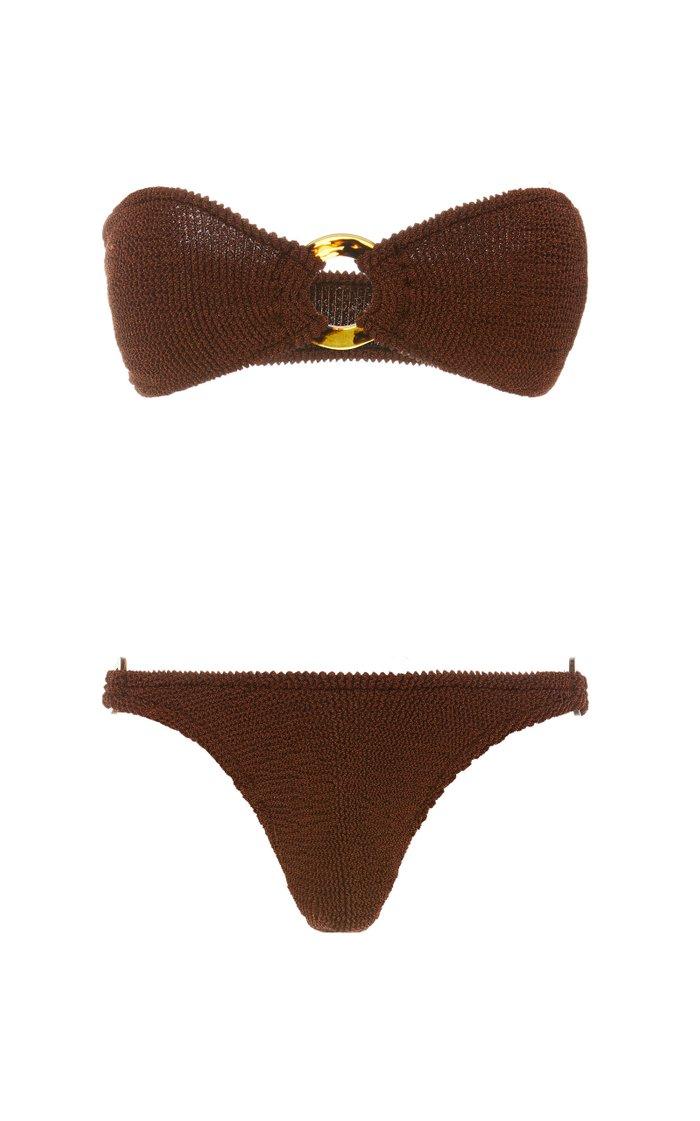 Gloria Textured Bandeau Bikini