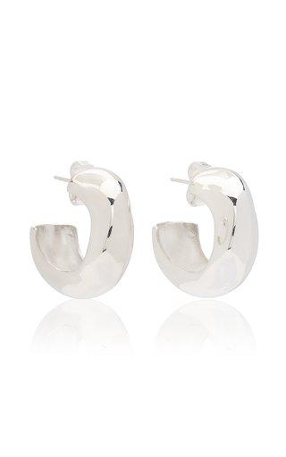 Celia Medium Sterling Silver Hoop Earrings