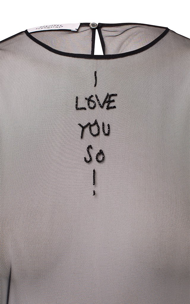 Love Notes Embroidered Chiffon Tank