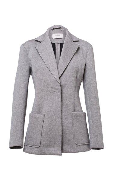 Minimalistic Charme Cotton-Jersey Blazer
