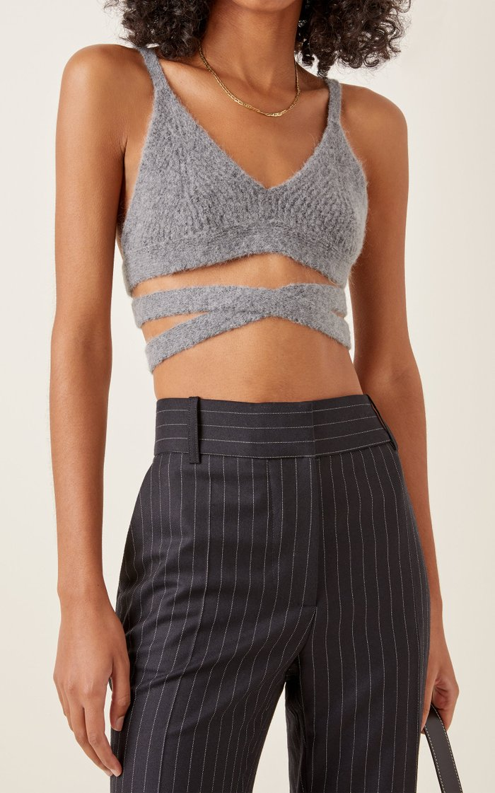 Maximal Softness Alpaca-Blend Cropped Top