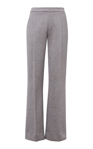 Minimalistic Charme Cotton-Jersey Straight-Leg Pants