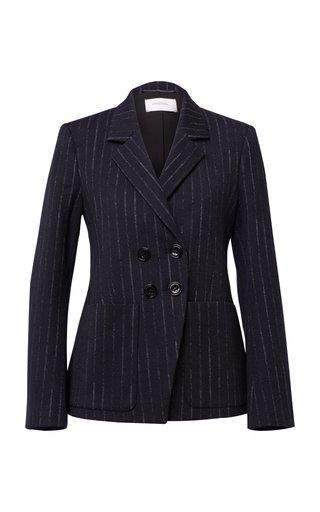 Classic Twist Pinstripe Wool-Blend Blazer