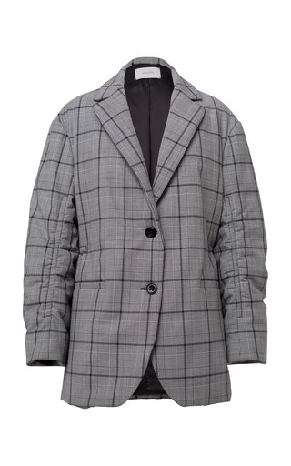 Checked Motion Wool-Blend Blazer