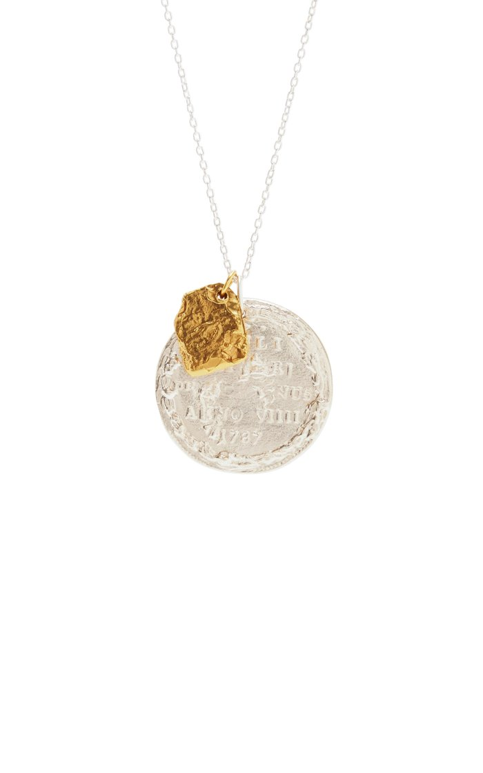 Silver And 24K Gold-Plated Necklace
