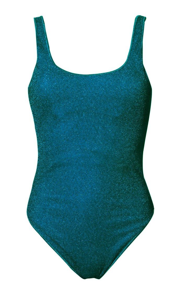 Sporty Stretch-Lurex Swimsuit