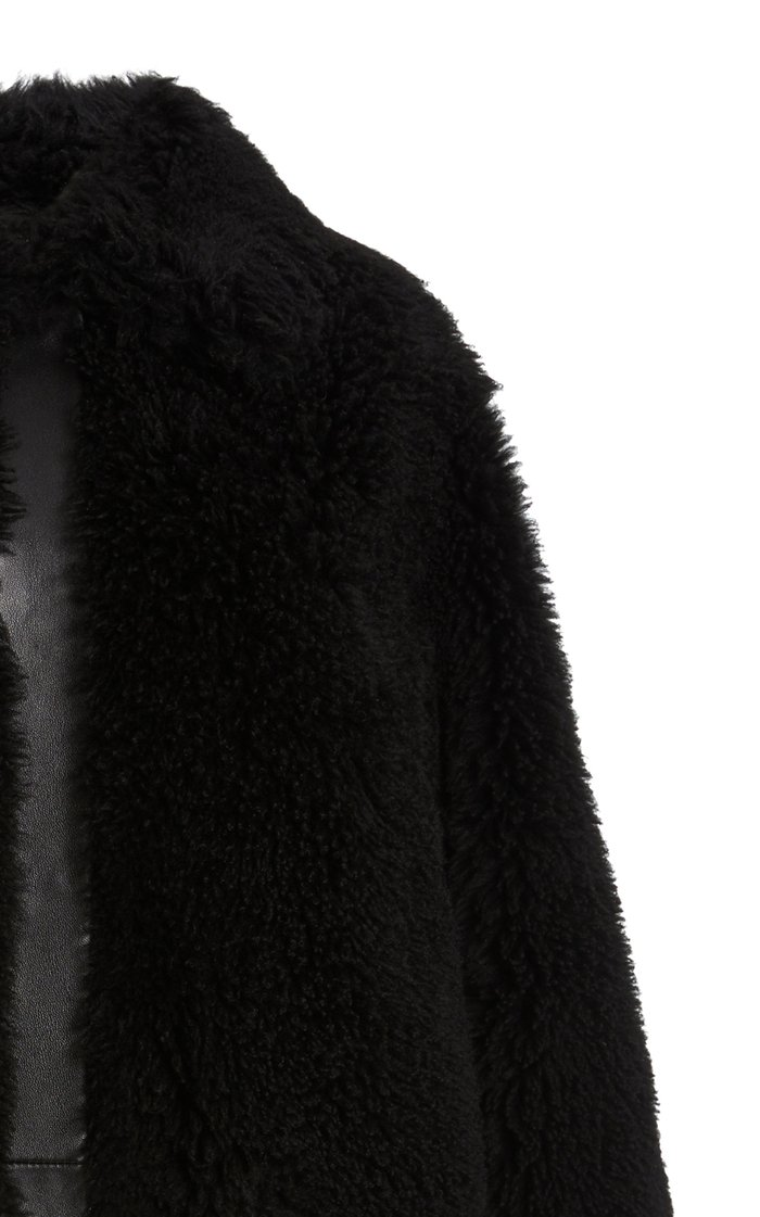 Moon Leather-Trimmed Shearling Coat