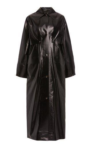 Convertible Oiled Cotton-Blend Reversible Coat