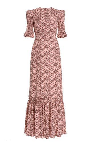 Night Garden Floral Cotton Maxi Dress