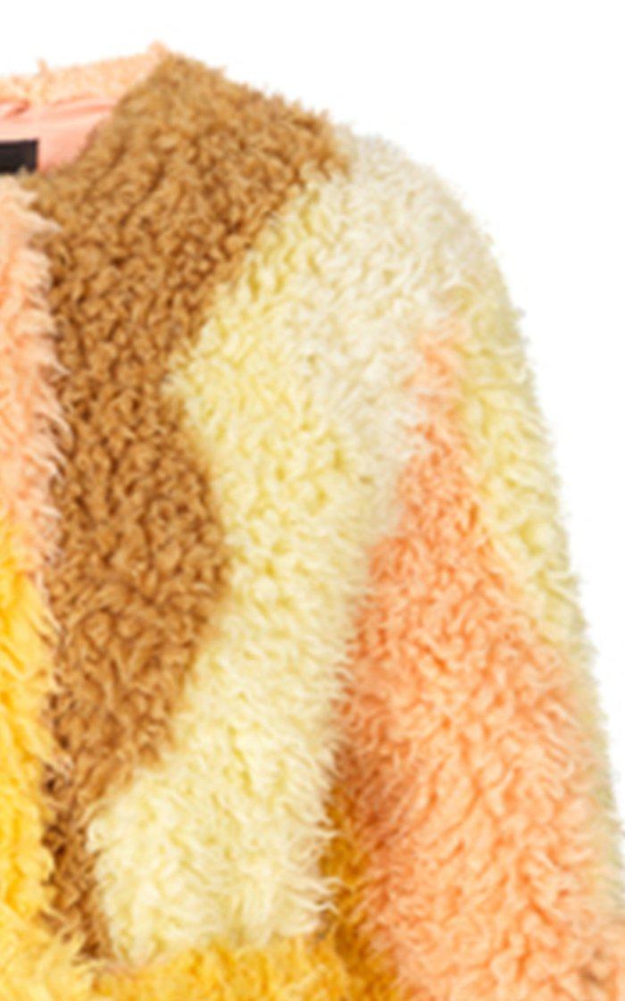 Matheu Belted Faux-Shearling Coat