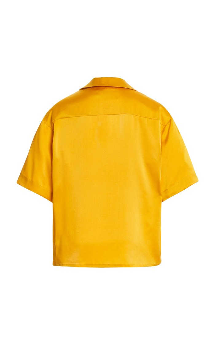The Prague Silk Satin Shirt