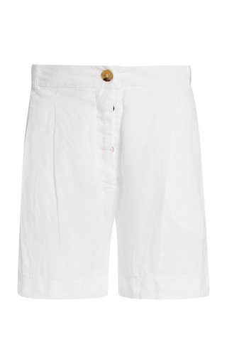 The Madrid Pleated Linen Shorts