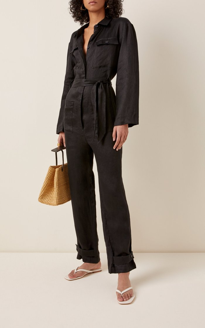 The Antwerp Belted Linen Boilersuit