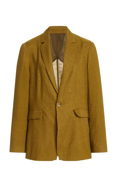 The Azores Oversized Linen Blazer