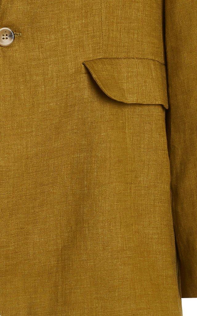The Azores Oversized Linen Blazer