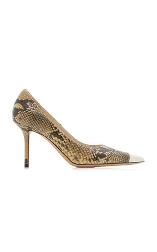 Love Snake-Print Leather Pumps