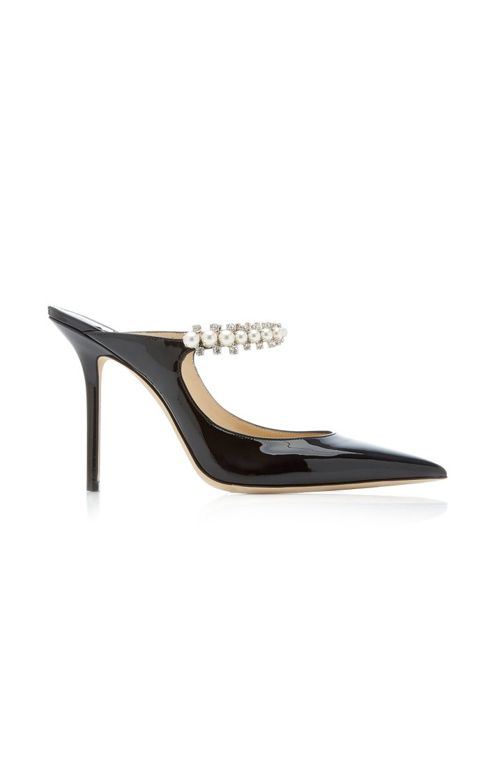 Bing Embellished Patent Leather Mules
