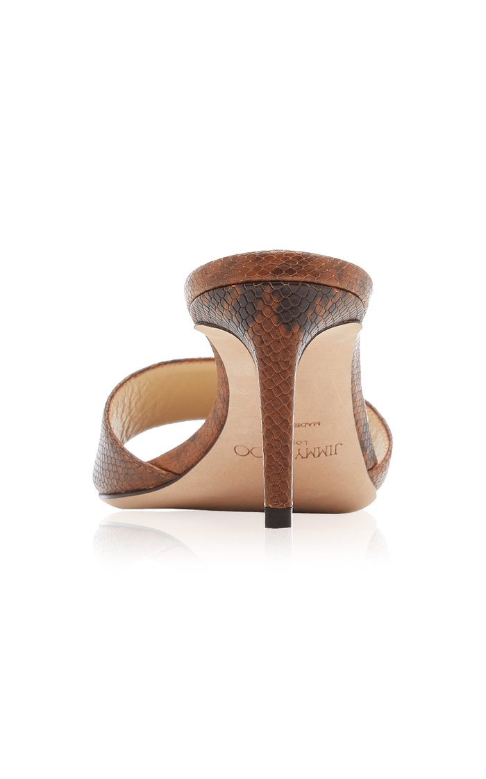 Stacey Snake-Effect Leather Sandals